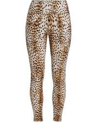 R13 Leopard Patch Pocket Leggings - Multicolor