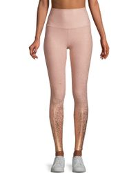 Beyond Yoga - Alloy Ombre Metallic High-rise Leggings - Lyst