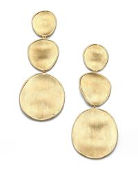 Marco Bicego - Lunaria 18k Yellow Gold Drop Earrings - Lyst