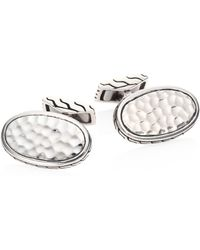 John Hardy - Classic Chain Collection Sterling Silver Cuff Links - Lyst