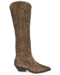 Isabel Marant Denvee Suede Tall Boots - Brown