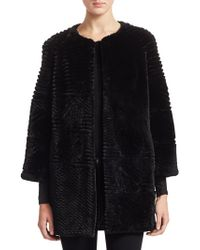 Saks Fifth Avenue - Sheared Beaver Fur Jacket - Lyst