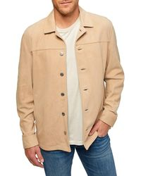 7 For All Mankind Suede Shirt Jacket - Natural