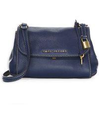 Marc Jacobs - Women s Mini Boho Grind Leather Shoulder Bag - Blue Sea - Lyst 4bec6ee911cd6