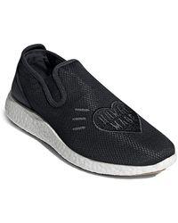 adidas Textile Slip-on Shoes - Black