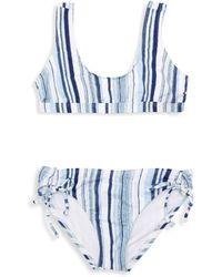 Splendid - Girl's Line Of Sight 2-piece Sport Bikini - Lyst
