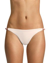 Eberjey Swim - Perry So Solid Two-tone Bikini Bottom - Lyst