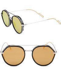 8a97ce76eca Dior Homme 136 s 59mm Mirror Aviator Sunglasses in Metallic for Men ...
