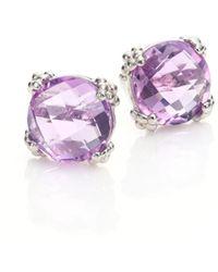 Anzie - Dew Drop Cluster Amethyst Stud Earrings - Lyst