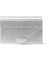 0d1091d7b198 Michael Kors Michael Barbara Envelope Clutch Bag in Metallic - Lyst