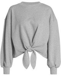 Cinq À Sept Parker Knotted Pullover Sweatshirt - Gray