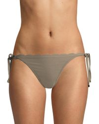 Heidi Klein - Scallop Side-tie Bikini Bottoms - Lyst