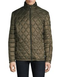 Tumi - Men's Outerwear Transit Faux Shearling Quilt Jacket - Loden - Lyst