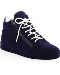 Giuseppe Zanotti - Round Toe Mid-top Sneakers - Lyst