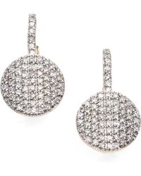 Phillips House - Pave Diamond & 14k Yellow Gold Petite Infinity Drop Earrings - Lyst