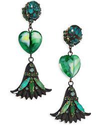 Erickson Beamon   Emerald City Drop Earrings   Lyst