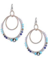 Chan Luu - Mix Stone Double Hoop Earrings - Lyst