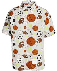 Thom Browne Sports Seersucker Shirt - Gray