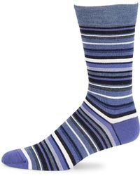 Saks Fifth Avenue - Collection Striped Knit Socks - Lyst