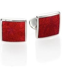 David Donahue - Paisley Sterling Silver Cuff Links - Lyst