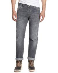 Brunello Cucinelli - Skinny-fit Five-pocket Jeans - Lyst