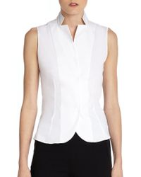 Akris - Architecture Collection Stand-collar Blouse - Lyst
