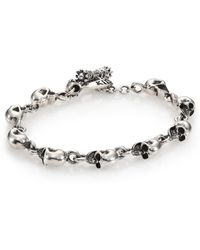 King Baby Studio - Sterling Silver Skull Link Bracelet - Lyst