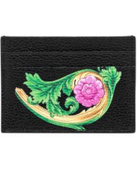 Versace - Painted Leather Card Case - Lyst