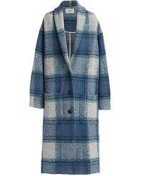 Étoile Isabel Marant - Elayo Long Plaid Wool-blend Coat - Lyst