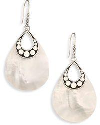John Hardy - Dot Mother-of-pearl & Sterling Silver Drop Earrings - Lyst