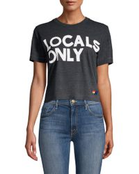 Aviator Nation - Women's Locals Only Boyfriend Tee - Charcoal - Lyst