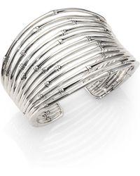 John Hardy - Bamboo Sterling Silver Wide Cuff Bracelet - Lyst