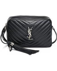 Saint Laurent - Women's Medium Lou Chain Strap Quilted Leather Satchel - Black - Lyst