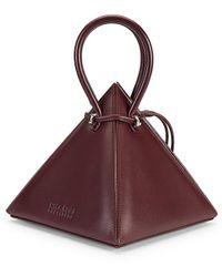 Nita Suri Lia Pyramid Leather Top Handle Bag - Multicolor