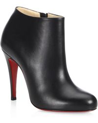 Christian Louboutin - Calf Leather Ankle Boots - Lyst
