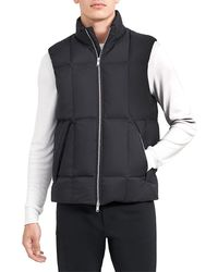 Theory Aaron Washer Nylon Zip-up Vest - Black
