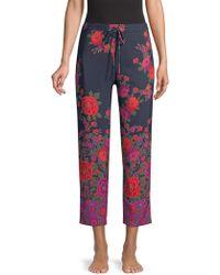 Natori - Botanica Floral Charmeuse Trousers - Lyst