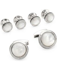 Tateossian - Six-piece Round Shirt Studs And Cufflinks Set - Lyst