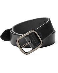 Shinola Men's Leather Belt - Black