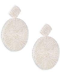 Kenneth Jay Lane - Seed Bead Circle Earrings - Lyst