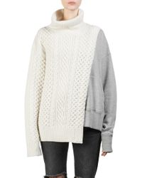 Sacai - Wool Sweatshirt Pullover - Lyst
