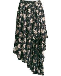 Michael Kors Asymmetrical Silk Chiffon Dance Skirt - Black
