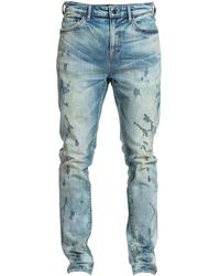 PRPS Le Sabre Warlock Splatter Skinny Jeans - Blue