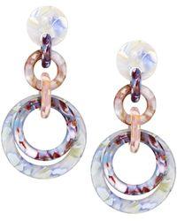 Lele Sadoughi Loop-de-loop Triple Hoop Earrings - Blue