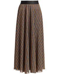 Rachel Comey Portion Glitter Stripe Skirt - Metallic