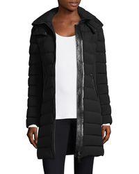 Mackage Farren Stretch Lightweight Down Coat With Removable Hood In Black - Women