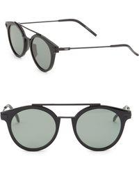 Fendi - 49mm Round Sunglasses - Lyst