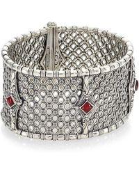 Konstantino - Sterling Silver Rhodolite Bracelet - Lyst