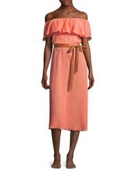 Eberjey - Nomad Florence Cotton Midi Dress - Lyst
