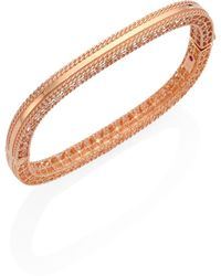 Roberto Coin - Princess 18k Rose Gold Bangle Bracelet - Lyst